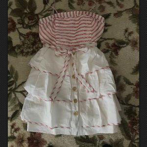 Maeve Anthropologie Striped Spg/summer dress 10p